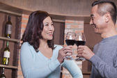 Mature Couple at a Winetasting — Stock Photo