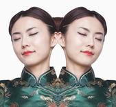 Woman in Qipao Digital Composite — Stock Photo