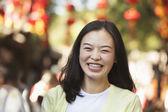 Woman In Nanluoguxiang — Stock Photo