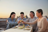 Family barbeque party — Stock Photo