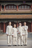 Chinese People With Tai Ji Clothes — Stock Photo