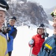 Friends in Ski Resort — 图库照片
