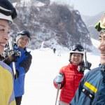 Friends in Ski Resort — Stock fotografie