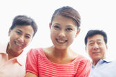 Daughter with her parents — Stock Photo