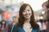 Smiling Woman In Houhai — Stock Photo
