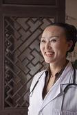 Mature Woman Doctor — Stock Photo