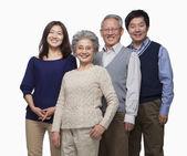 Multi generation familj — Stockfoto
