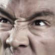 Extreme Close up on angry mans face — Stock Photo