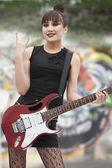 Dziewczyna punk rock — Zdjęcie stockowe