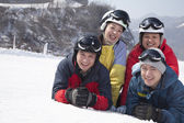 Friends in Ski Resort — Stock Photo