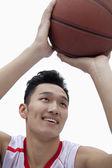 Basketball Player Lining Up His Shot — Stock Photo