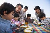 Birthday party, multi-generation family — Stock Photo