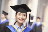 Female Graduate Smiling — Stock Photo