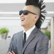 Well-dressed young man with Mohawk — Stock Photo #36401167