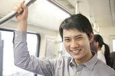 Man in subway — Stock Photo