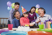 Birthday part, multi-generation family — Stock Photo
