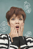 Woman with money problems — Foto Stock