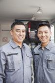 Two Garage Mechanics — Stock Photo