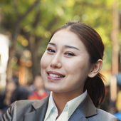 Business woman in Houhai — Stock Photo