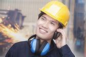 Engineer on the Phone — Stock Photo