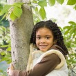 Girl near tree — Stock fotografie #36418521
