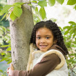 Girl near tree — Stok Fotoğraf #36418521