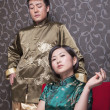 Stock Photo: Cool Couple in Chinese Traditional Clothing