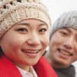 Stock Photo: Young Couple in wintertime
