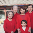 Family in Traditional Chinese Courtyard — Stock Photo #36639381