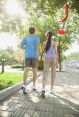 Couple Walking Together — Stock Photo
