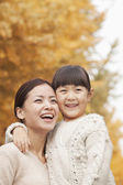 Mother and Daughter Enjoying a Park — Stock Photo