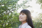 Young Woman At Sunset — Stock Photo