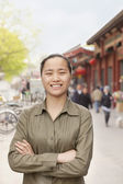 Young Woman in the city — Stock Photo
