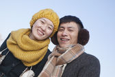 Couple Outside in winter — Stock Photo