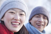 Young Couple In Beijing in the Winter — Stock Photo