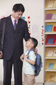 Father And Son In School — Stock Photo