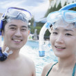 Couple in the pool — Stock Photo #36645321