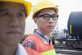 Serious engineer in protective workwear — Stock Photo