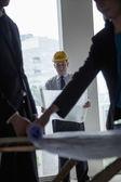 Architects examining blueprints — Stock Photo