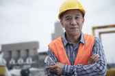 Worker outside of a factory — Stock Photo