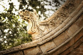 Carvings on the roof of the pagoda — Stock Photo