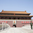 Gate of Heavenly Peace with Mao's Portrait and guard — Stock Photo #36656295