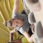 Women climbing in an indoor climbing gym — Stock Photo #36656715