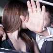 Couple kissing in car at red carpet event — Stock Photo #36658747