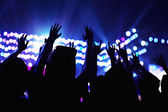 Audience watching a rock show — Stock Photo