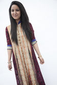 Young woman wearing traditional clothing from Pakistan — Stock Photo