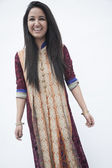 Woman wearing traditional clothing from Pakistan — Stock Photo