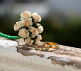 The rings for just married — ストック写真