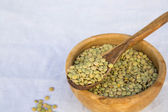 Dried green lentils — Stock Photo