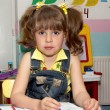 Preschooler in the class — Stock Photo